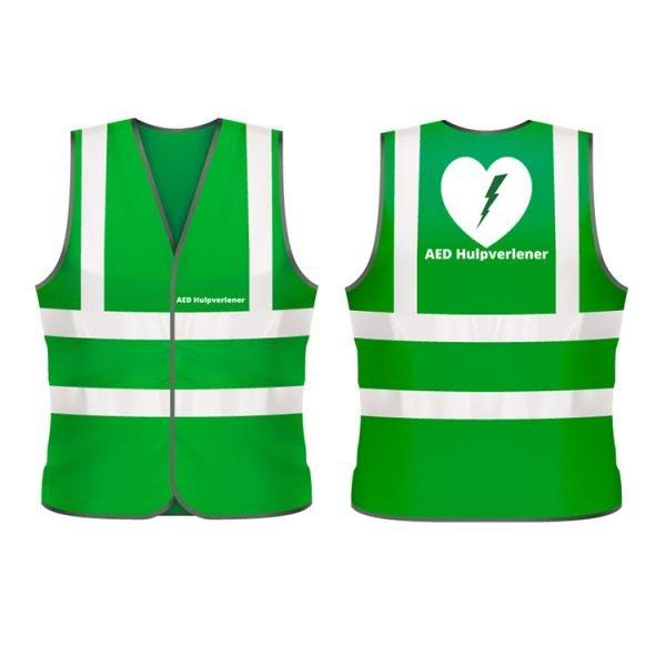 AED Hulpverlener veiligheidshesje (groen)
