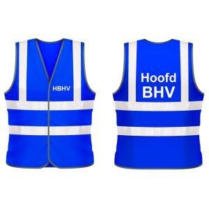 Hoofd BHV hesje (blauw)