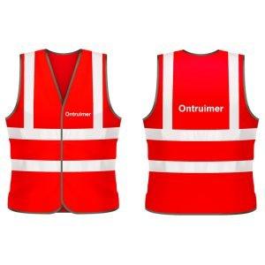 Ontruimer veiligheidshesje (rood)