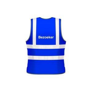 Bezoeker veiligheidsvest (blauw)
