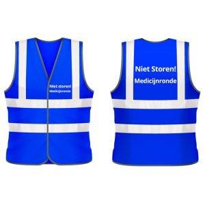 Medicijnronde veiligheidshesje (blauw)