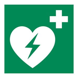 AED sticker pictogram