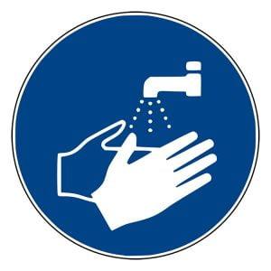Pictogram bord Handen wassen NEN EN ISO 7010