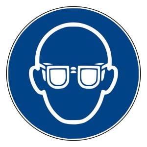 Pictogram bord Veiligheidsbril NEN EN ISO 7010