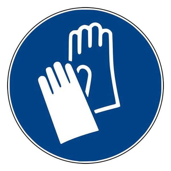 Pictogram bord Veiligheidshandschoenen NEN EN ISO