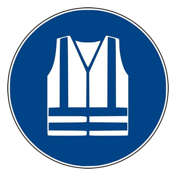 Pictogram bord Veiligheidsvest NEN EN ISO 7010