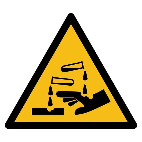 Pictogram bord waarschuwing Bijtende stoffen NEN EN ISO 7010