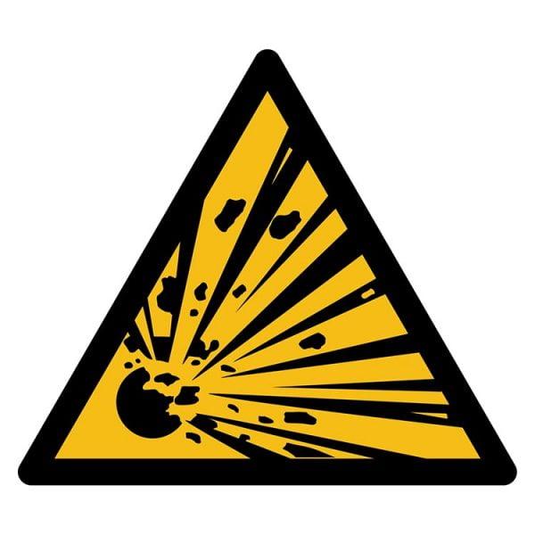 Pictogram bord waarschuwing Explosie gevaar NEN EN ISO 7010