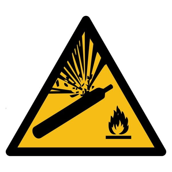 Pictogram bord waarschuwing Gasflessen NEN EN ISO 7010