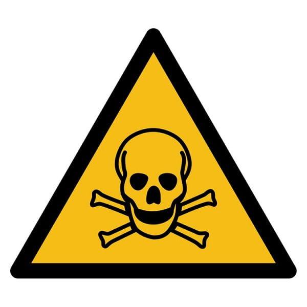 Pictogram bord waarschuwing Gifitige Stoffen NEN EN ISO 7010