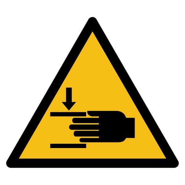 Pictogram bord waarschuwing Knelgevaar Handen NEN EN ISO 7010