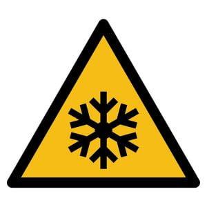 Pictogram bord waarschuwing Lage Temperatuur NEN EN ISO 7010