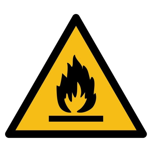 Pictogram bord waarschuwing Ontvlambare Stoffen NEN EN ISO 7010