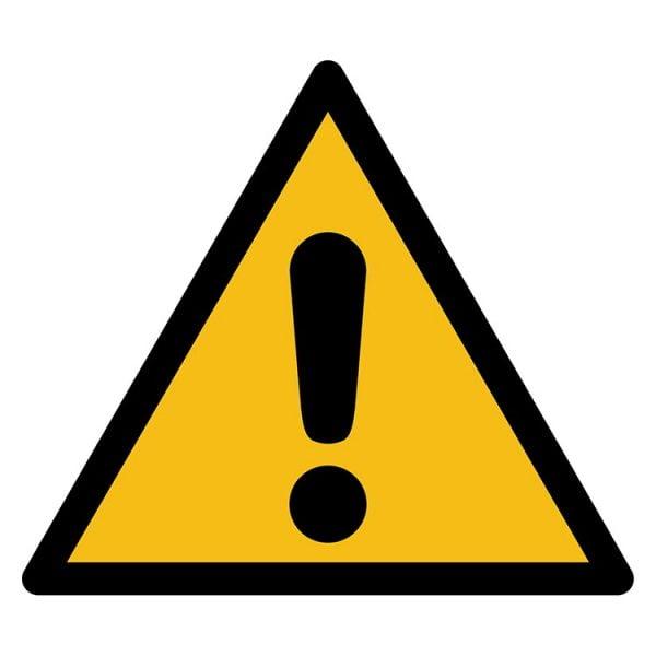 Pictogram bord waarschuwing Opgelet gevaar NEN EN ISO 7010