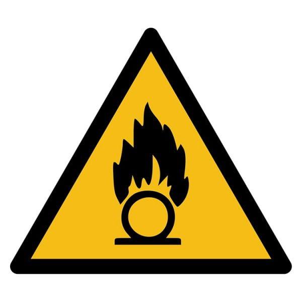 Pictogram bord waarschuwing Oxiderende stoffen NEN EN ISO 7010