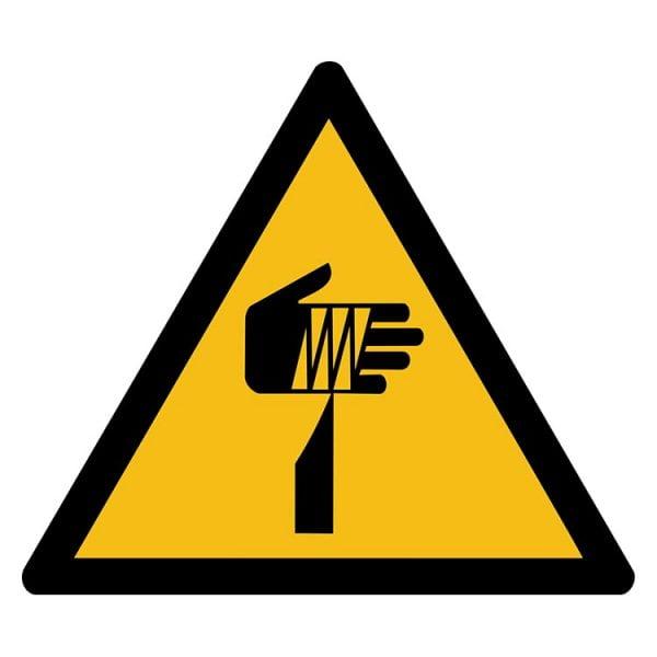 Pictogram bord waarschuwing Snijgevaar Handen NEN EN ISO 7010