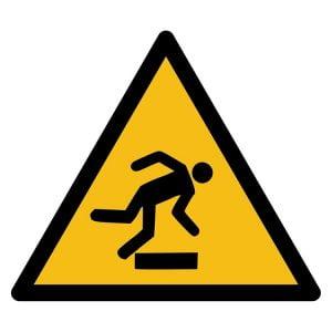 Pictogram bord waarschuwing Struikelgevaar NEN EN ISO 7010