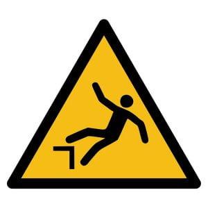 Pictogram bord waarschuwing Valgevaar van Hoogte NEN EN ISO 7010