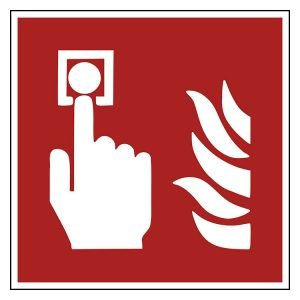 Pictogram bord Handbrandmelder ISO 7010