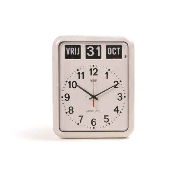 Kalenderklok BQ12-A wit