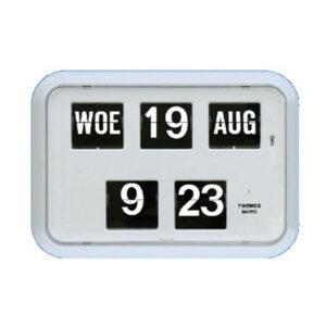 Kalenderklok QD-35 wit