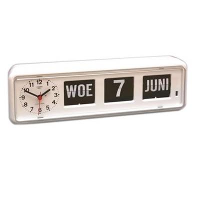 Kalenderklok tafelmodel BQ-38 wit