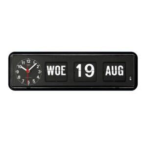 Kalenderklok tafelmodel BQ-38 zwart